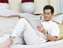 Asian man. Asian businessman working from home Stock Photo