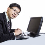 Asian man call center Royalty Free Stock Photography