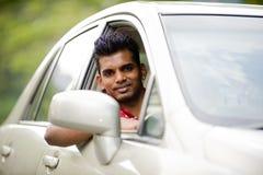 Asian Man In Car Stock Photo