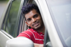 Asian Man In Car Royalty Free Stock Images