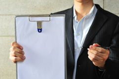 Asian Man with Clipboard 5 stock image