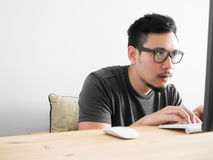 Asian man concentrate. Stock Photography