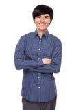 Asian man cross arm Royalty Free Stock Photos