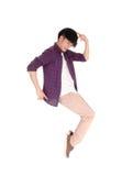 Asian man dancing. Royalty Free Stock Photography