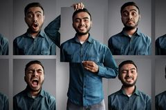 Asian man with different emotion. S Stock Photos