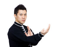 Asian man doing chinese martial arts Royalty Free Stock Images