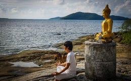 Meditation royalty free stock photography
