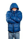 Asian Man in Down Padded Coat Stock Images