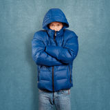Asian Man in Down Padded Coat Stock Image