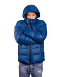 Asian Man in Down Padded Coat Stock Photo