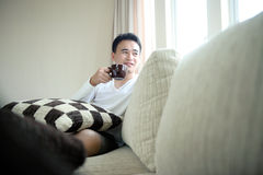 Asian Man Drinking Royalty Free Stock Images