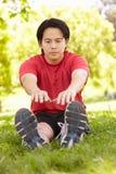 Asian man exercising Stock Image