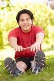 Asian man exercising Royalty Free Stock Image