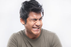 Asian Man Expression Wink Royalty Free Stock Photo