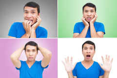 Asian Man Face Expressions Royalty Free Stock Photos