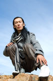 Asian man of fashion Stock Photo