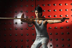 Asian Man In Fighting Action Royalty Free Stock Photos