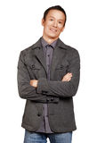 Asian Man With Folded Hands Stock Photography