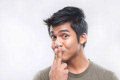 Asian Man Funny Faces Royalty Free Stock Photography