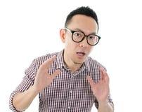 Asian man get shocked Royalty Free Stock Photos