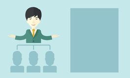 Asian man giving a buisness speech Royalty Free Stock Photography