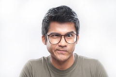 Asian Man With Glasses Royalty Free Stock Photos