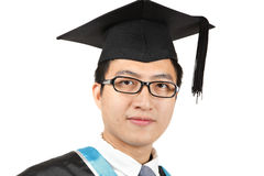 Asian man graduation Stock Images