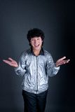 Asian man with hand emotion. Portrait Royalty Free Stock Photography