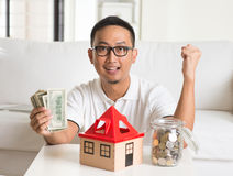Asian man happy Stock Image