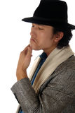 Asian  man in a hat emotion Stock Photos