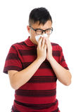 Asian man having a sick flu Stock Photo