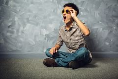 Asian man hipster fashion clothing. stock photography