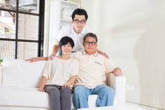 Asian man with his parents Royalty Free Stock Photos