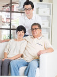 Asian man with his parents Stock Image