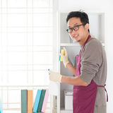 Asian man housekeeping Royalty Free Stock Photo