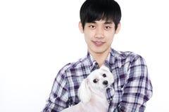 Asian man - isolated on white background Stock Photos