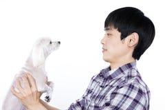 Asian man - isolated on white background. Shot Stock Photo