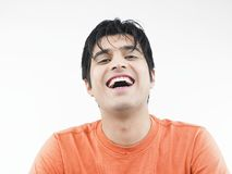 Asian man laughing Stock Photography