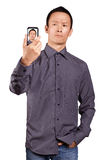 Asian Man Making An Avatar Royalty Free Stock Photos