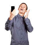 Asian Man Making A Selfie Stock Photo