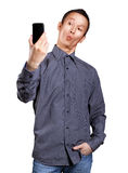 Asian Man Making A Selfie Stock Photography