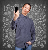 Asian Man Making A Selfie Royalty Free Stock Photography