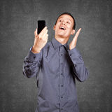 Asian Man Making A Selfie Royalty Free Stock Images
