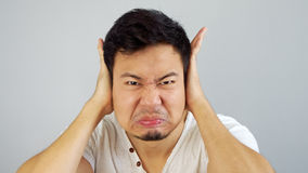 Asian man not listen. Stock Images
