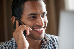 Asian Man On the Phone Royalty Free Stock Photo