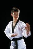 Asian man playing  taekwondo Stock Image