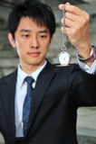 Asian Man with Pocket Watch 4 Stock Image