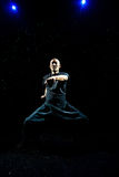 Asian Man practicing Kung Fu Stock Image