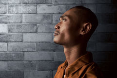 Asian man in prison Royalty Free Stock Photos