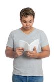Asian man reading a book Royalty Free Stock Images